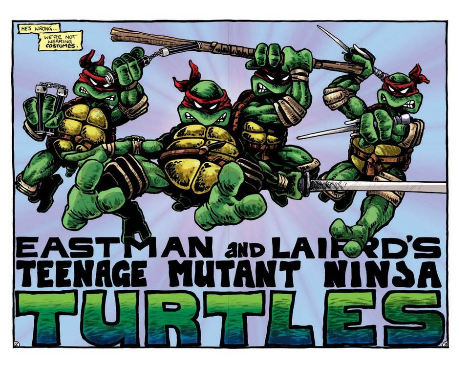 """Photo -  A color page from IDW's reprint of """"Teenage Mutant Ninja Turtles"""" No. 1 in """"Teenage Mutant Ninja Turtles Color Classics: The Works"""" Vol. 1. Image provided by IDW Publishing"""