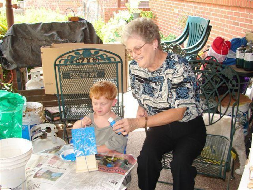 Barbara Holmes with grandson Cody Layman. Community Photo By: Harry Holmes Submitted By: Lindsay, Edmond