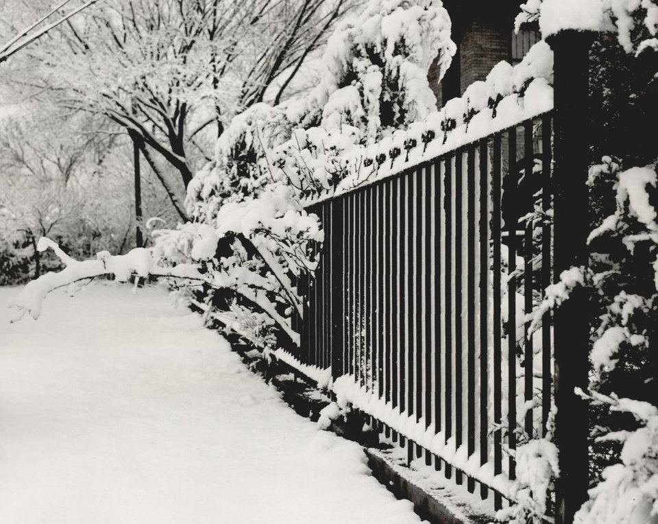 Photo - Jan. 10, 1955: For its new resident, the governor's mansion and grounds were frosted like a bit of