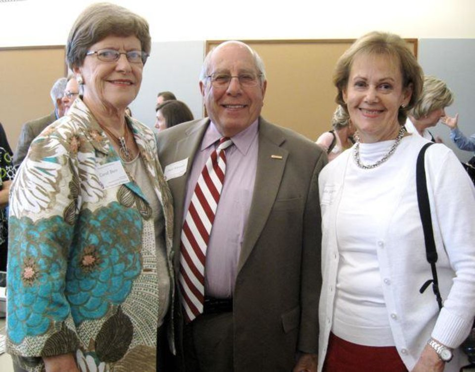 Carol Burr, Paul Massad and Linda Johnson were at the dedication ceremony. (Photo by Helen Ford Wallace).