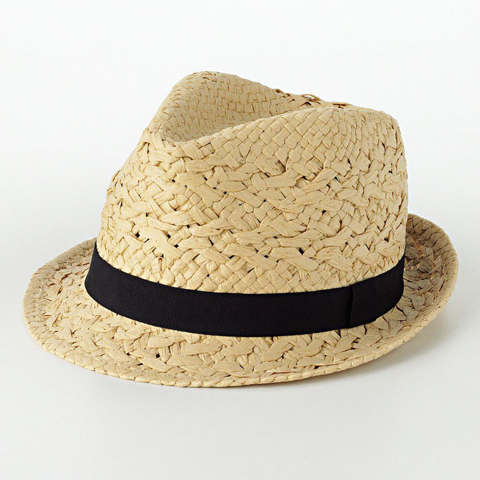 Photo - For a similar look donned by Jessica Alba during a Sunday brunch, try this Mud straw fedora hat from Kohls.com for $16.80. (Courtesy Kohls.com via Los Angeles Times/MCT)