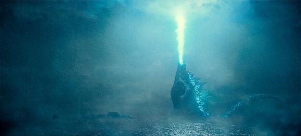"Photo -  The mighty lizard battles several other giant beasts in ""Godzilla: King of the Monsters."