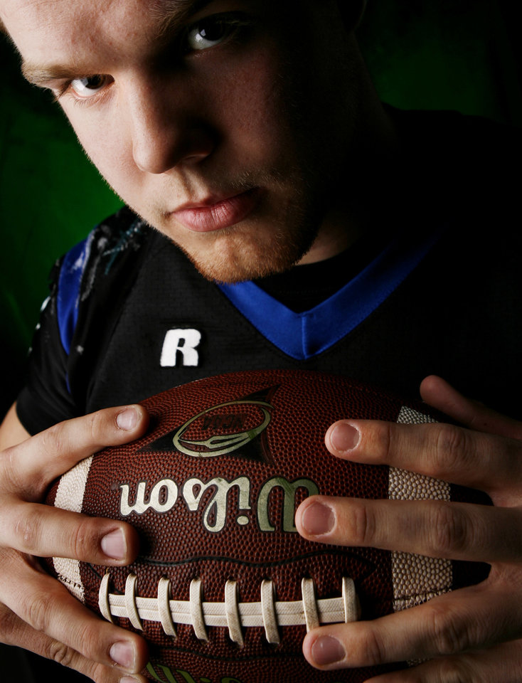 Deer Creek High School's Evan Dymond All Little City Linebacker.
