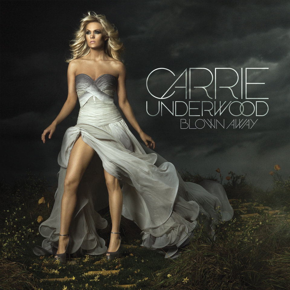 "In this CD cover image released by Sony Music Nashville, the latest release by Carrie Underwood, ""Blown Away,"" is shown. (AP Photo/Sony Music Nashville) ORG XMIT: NYET926"