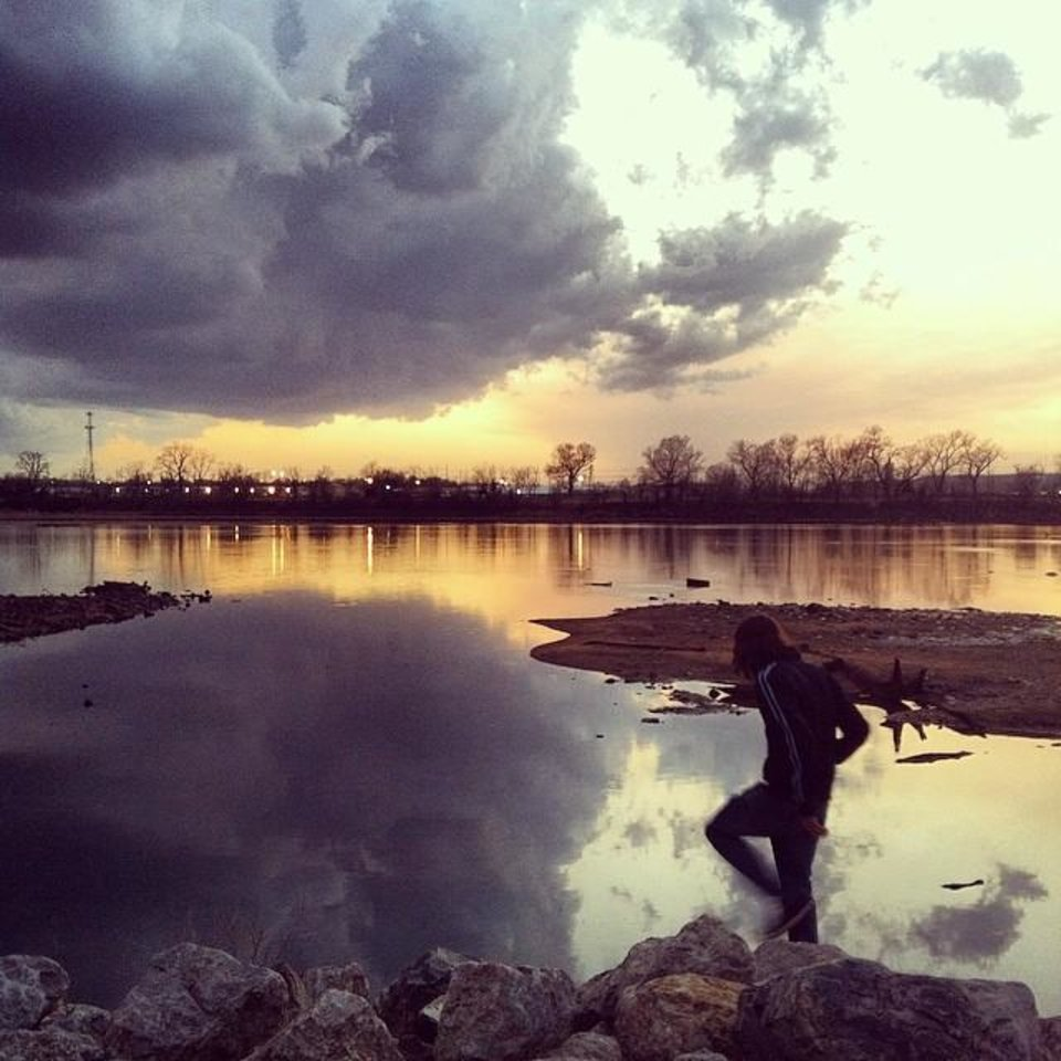 Arkansas River in Tulsa - Photo by Instagrammer @se_gray