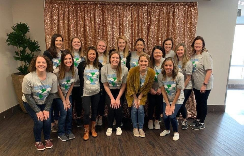 Photo - Junior League of Oklahoma City volunteers prepare to welcome patients to Prom Night at 	The Children's Hospital at OU Medicine. [PROVIDED]