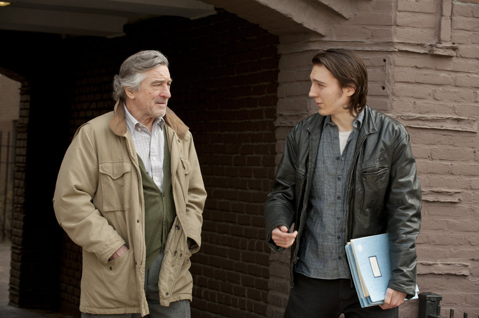 "In this film image released by Focus Features, Robert De Niro portrays Jonathan Flynn, left, and Paul Dano portrays Nick Flynn in a scene from ""Being Flynn."" (AP Photo/Focus Features, David Lee)"