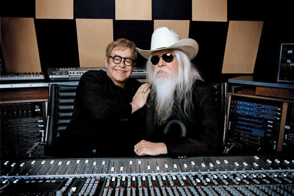 """The Tribeca Film Festival opens tonight with the world premiere of director Cameron Croweís """"The Union."""" The documentary chronicles the efforts of British pop star Elton John, left, to reconnect with and revive the career of Oklahoma music icon Leon Russell, right, Johnís idol in the early days of his career. PHOTO PROVIDED ORG XMIT: 1104191602393060"""