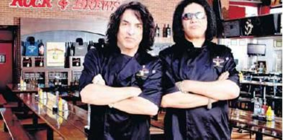 Photo - KISS founders Paul Stanley, left, and Gene Simmons will open a Rock & Brews location in Oklahoma City in November. [PROVIDED]