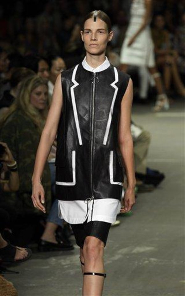 The Alexander Wang Spring 2013 collection is modeled during Fashion Week in New York,  Saturday, Sept. 8, 2012. (AP Photo/Richard Drew)