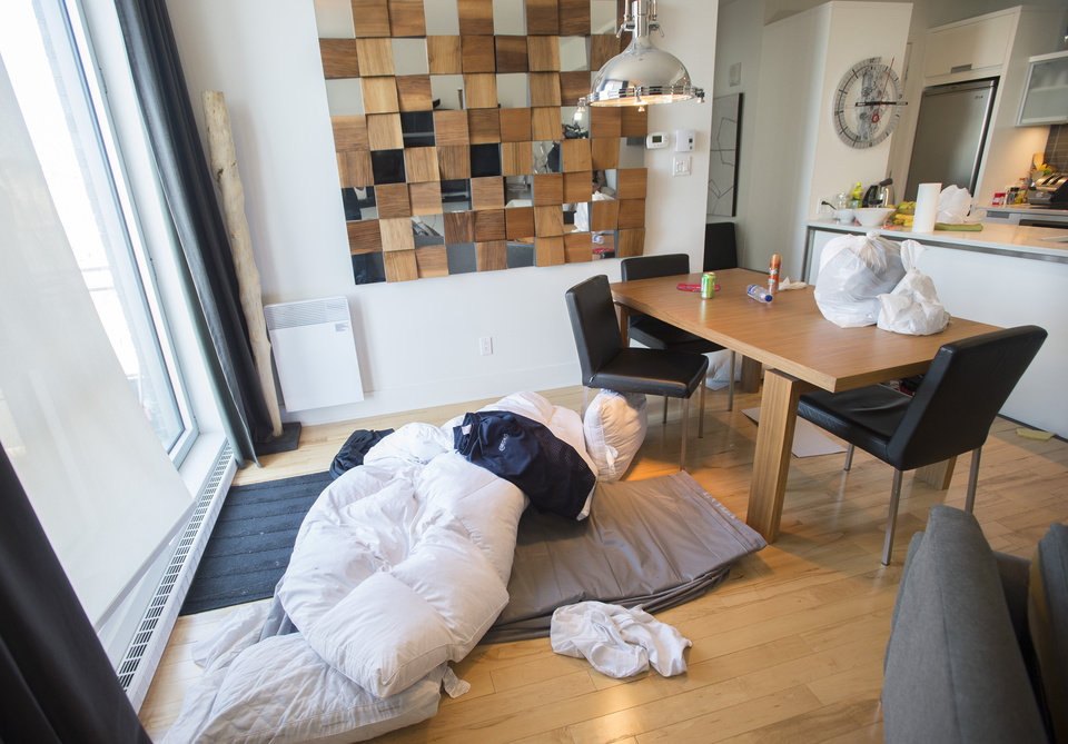 Photo - This photo shows an apartment where three prison escapees were captured in Montreal, Sunday, June 22, 2014. The three men escaped from a Quebec City-area prison by helicopter on June 7. (AP Photo/The Canadian Press, Graham Hughes)