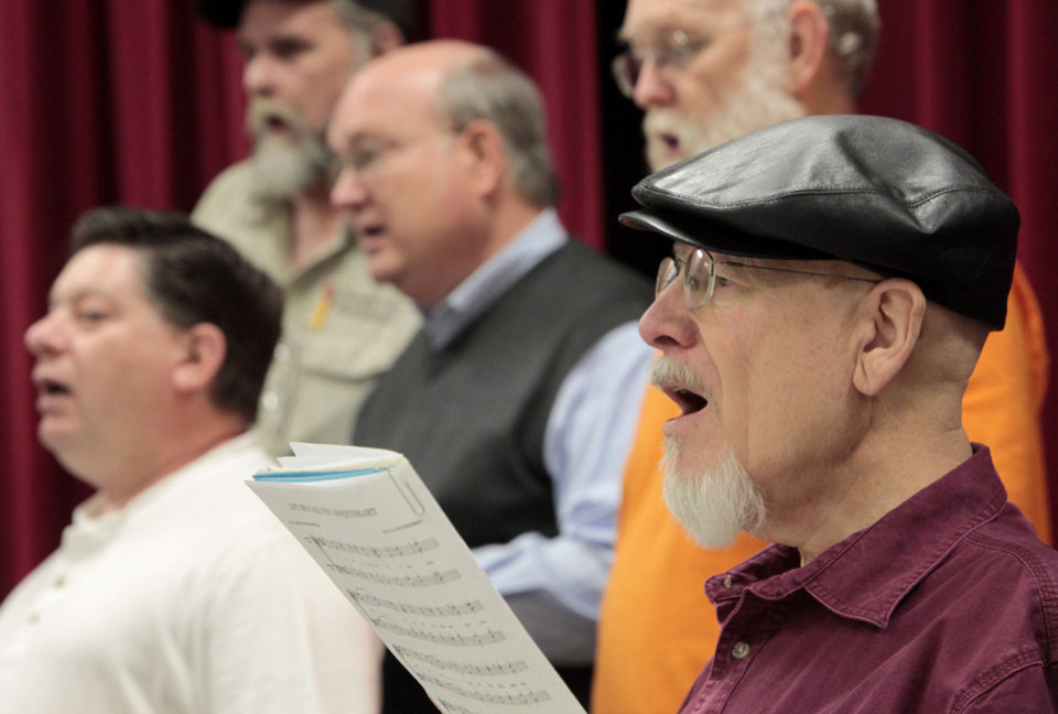 Michael Richard practices with OK Chorale. Photos By David McDaniel, The Oklahoman