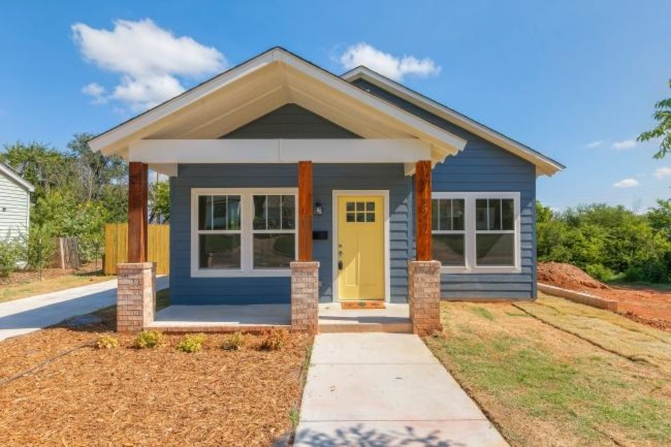 Photo -  Positively Paseo built this home at 821 NE 31 and three others in the Capitol View neighborhood with roofs meeting the