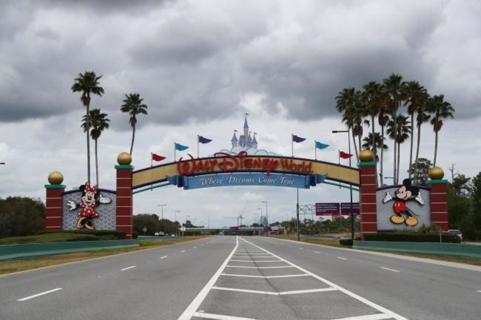 Photo -  Mar 16, 2020; Bay Lake, Florida, USA;  A general view of the sign to enter Magic Kingdom. Walt Disney World theme parks are closed due to the Coronavirus (COVID-19). Mandatory Credit: Kim Klement-USA TODAY NETWORK