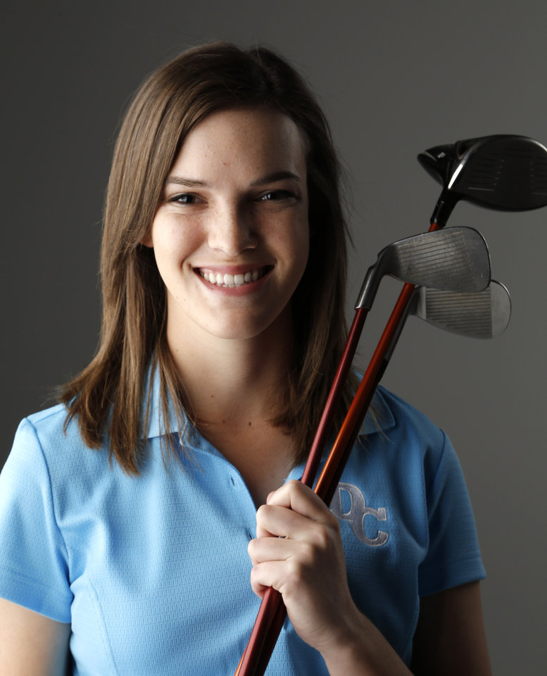 GIRLS HIGH SCHOOL GOLF: Caroline Goodin, Girls Golfer of the Year from Deer Creek, Wednesday, May 22, 2013. Photo by Doug Hoke, The Oklahoman