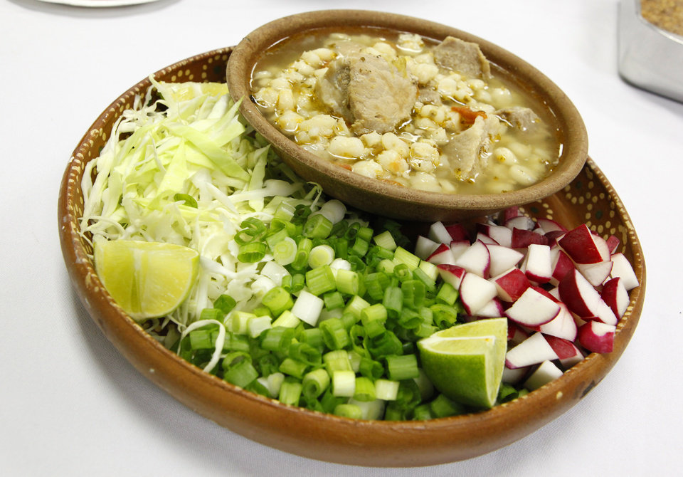 Pozole, also known as hominy stew, from the new church cookbook published by the Exchange Avenue Baptist Church in Oklahoma City Wednesday, Nov. 2, 2011. The first cookbook by the church was published in 1971 forty years ago. Photo by Paul B. Southerland, The Oklahoman