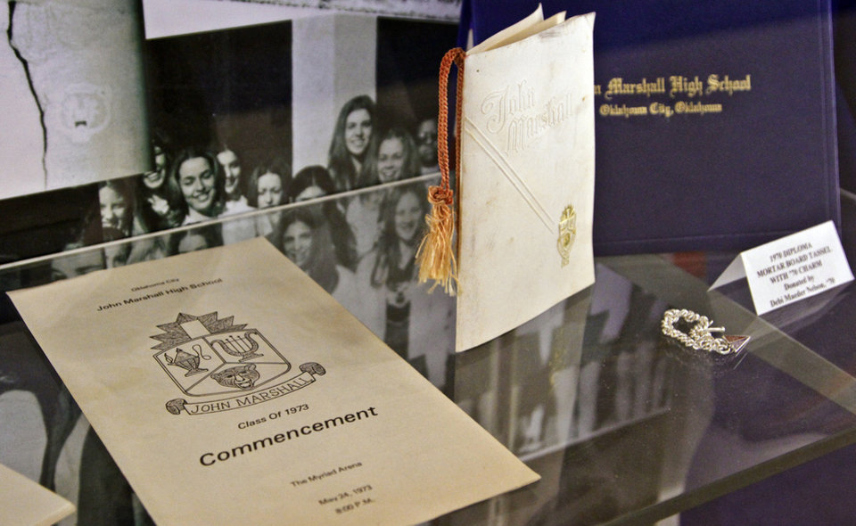 John Marshall memorabilia on display at John Marshall High School on Friday, March 30, 2012, in Oklahoma City, Okla. Photo by Chris Landsberger, The Oklahoman