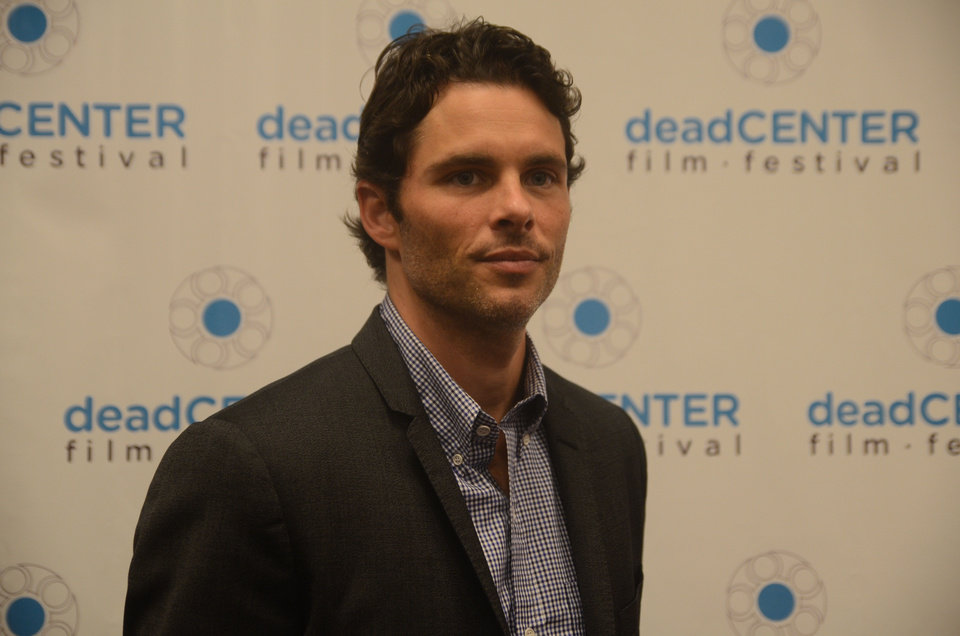 Photo - James Marsden, an Oklahoma native, accepted the inaugural Film Icon Award on Saturday at the deadCenter Film Festival. Photo by Adam Kemp, The Oklahoman