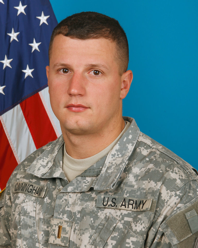 Photo - MILITARY / OKLAHOMAN / DEATH / JOE CUNNINGHAM / JOE LEE CUNNINGHAM: 2nd Lt. Joe L. Cunningham, Army National Guard soldier from Kingston died 8/13/2011 in Afghanistan        ORG XMIT: 1108152233522257
