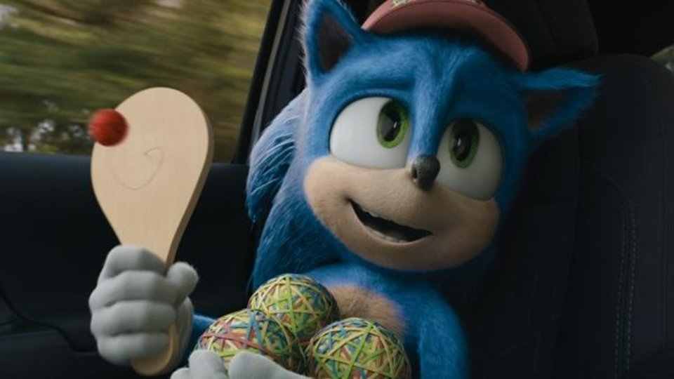 Photo -  Sonic (voice of Ben Schwartz) appears in a scene from the film