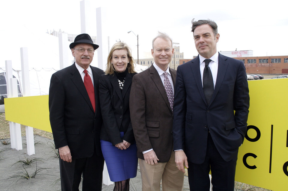 James Pickel, Mary Ann Prior, Mayor Mick Cornett, Christian K. Keesee.   Photo provided <strong>Photo provided</strong>