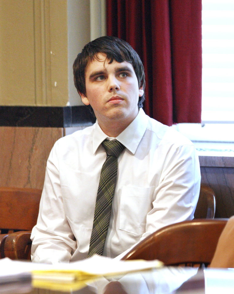 Photo - Connor Mason sits Thursday in the courtroom during his sentencing at the Oklahoma County Courthouse in Oklahoma City. Photo by Paul B. Southerland, The Oklahoman  PAUL B. SOUTHERLAND
