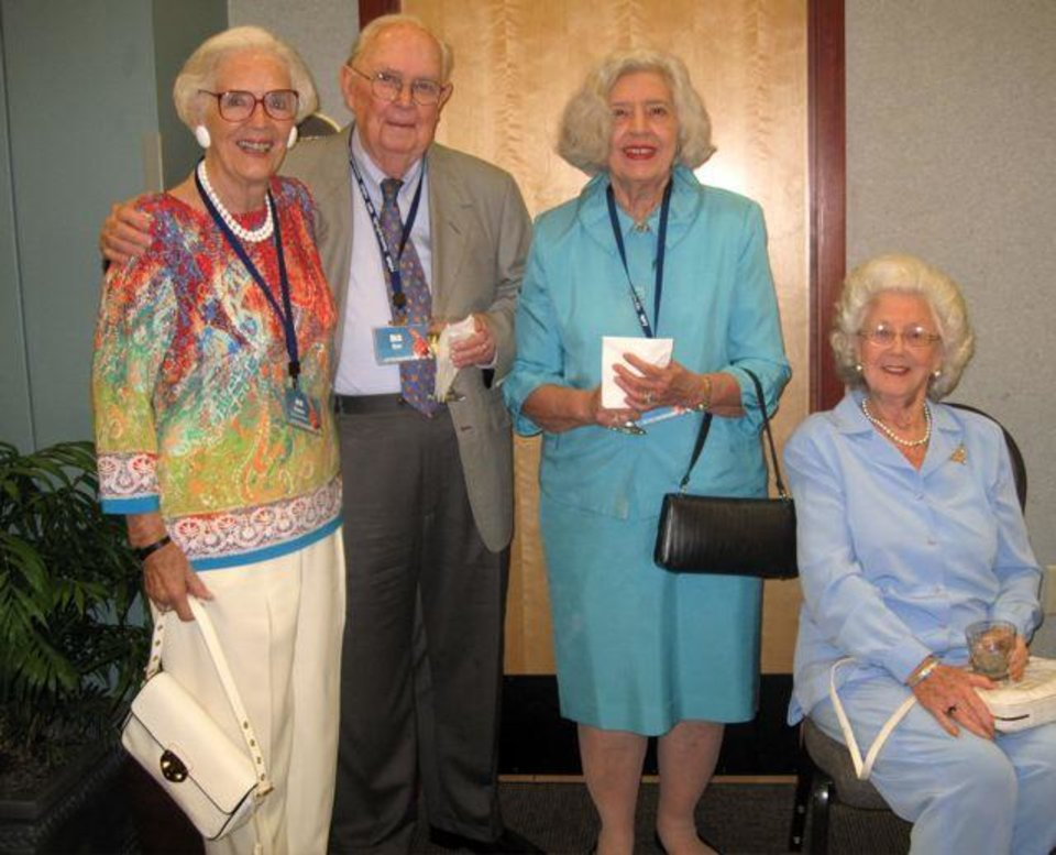Joan Gilmore, Dick and Jeannette Sias and Jose Freede attended the recent Oklahoma Press Association annual convention held  at the Reed Center in Midwest City. The 2012 OPA Awards were presented. Gimore won the Beachy Musselman Award. (Photo by Helen Ford Wallace).