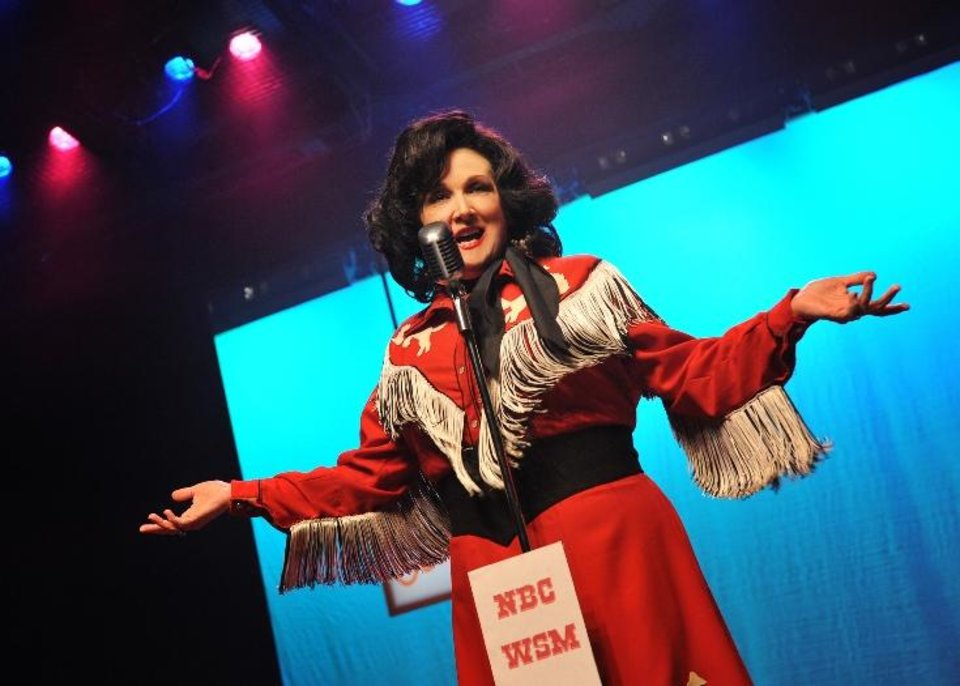 Photo - Julie Johnson plays Patsy Cline in Oklahoma City Repertory Theatre's production of the musical biopic