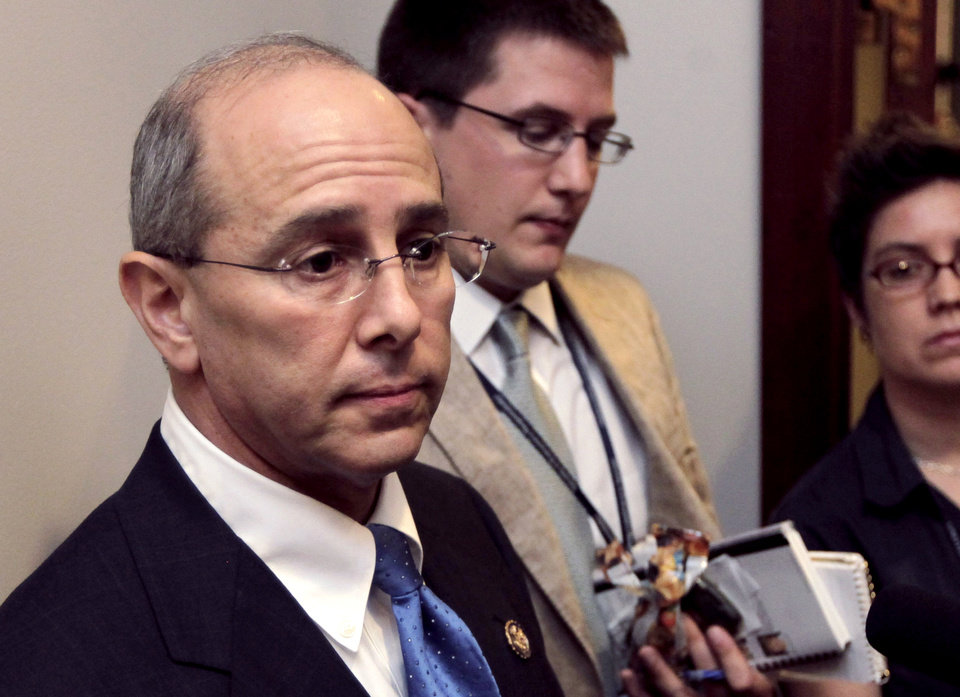 FILE - In this July 21, 2011 file photo House Ways and Means Oversight subcommittee Chairman Rep. Charles Boustany, R-La., speaks on Capitol Hill in Washington. U.S. Rep. Charles Boustany will return to Congress for a fifth term after handily defeating his fellow Republican congressman, Jeff Landry, in a runoff election, Saturday, Dec. 8, 2012. (AP Photo/J. Scott Applewhite, File)