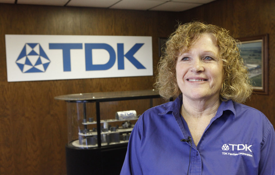 TDK Industries CEO Charlene Norvell at the Shawnee plant, Tuesday, November 6, 2012.   Photo By David McDaniel/The Oklahoman