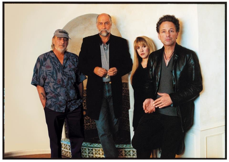 Photo - Rock and Roll Hall of Famers Fleetwood Mac - from left, bassist John McVie, drummer Mick Fleetwood, singer/songwriter Stevie Nicks and singer/songwriter/guitarist Lindsey Buckingham, have reunited on the road to mark the 35th anniversary reissue of their most iconic album, ?Rumours,? and with the hope of releasing new Fleetwood Mac music. Photo provided.