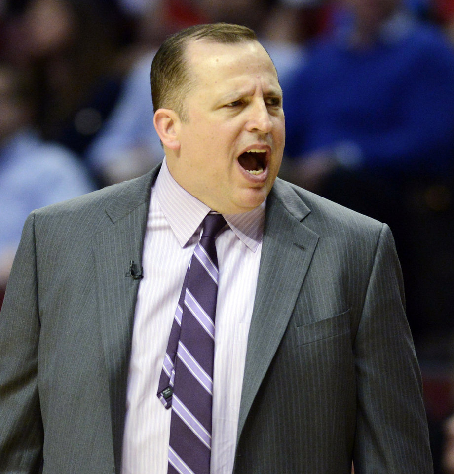 Photo - Chicago Bulls head coach Tom Thibodeau reacts to a call during Game 6 of their first-round NBA basketball playoff series against the Brooklyn Nets in Chicago, Thursday, May 2, 2013. The Nets won 95-92. (AP Photo/Daily Herald, Joe Lewnard) MANDATORY CREDIT; MAGS OUT; TV OUT
