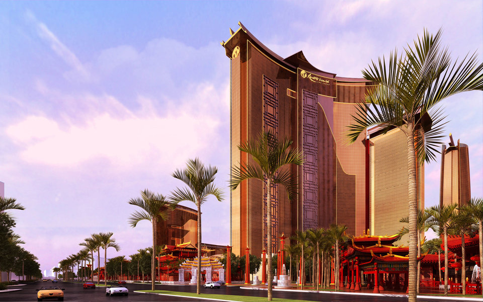 Photo - FILE - This undated file artists rendering provided by Steelman Partners shows plans for the development of a new hotel and casino complex on the site of the stalled Echelon project in Las Vegas. In a Wednesday, May 7, 2014 licensing hearing before gambling regulators, Malaysian conglomerate Genting Group unveiled new details about its planned Resorts World development at the less-trafficked north end of the Strip. T(AP Photo/Steelman Partners, File)