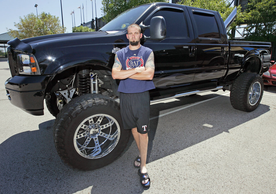 Photo - Josh Rupe is proud of his Ford F-250 truck. Photo by Nate Billings, The Oklahoman