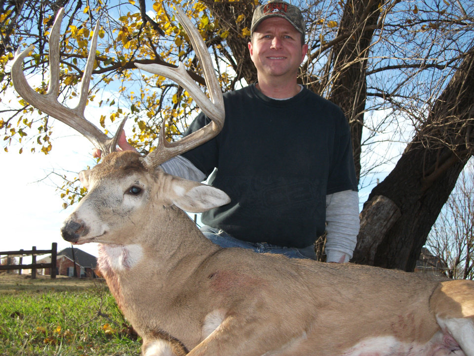 Tim Jensen of Tuttle with his big buck taken from Grant County during the 2010 gun season