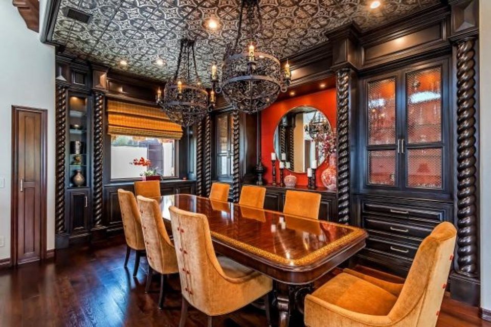 Photo -  Customized by stand-up comedian Ron White, known for his run on the Blue Collar Comedy Tour, the home has an elevator for navigating the three-story floor plan. [TNS PHOTO]