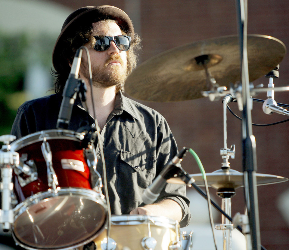 Photo - Dave Burnett plays drums with Margo Valiante at last year's Jazz in June festival. OKLAHOMAN ARCHIVES  BRYAN TERRY