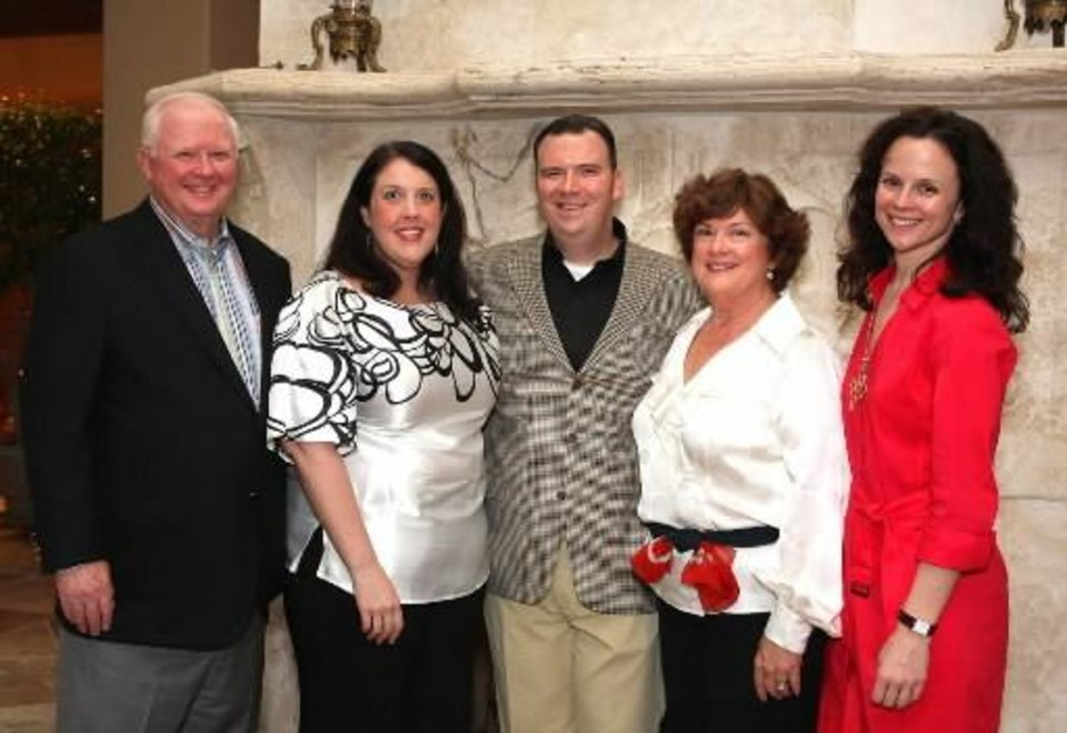 Right: Bob Browne, Kristine Partridge, Web Browne, Karen Browne and Cori Browne. PHOTO BY DAVID FAYTINGER, FOR THE OKLAHOMAN