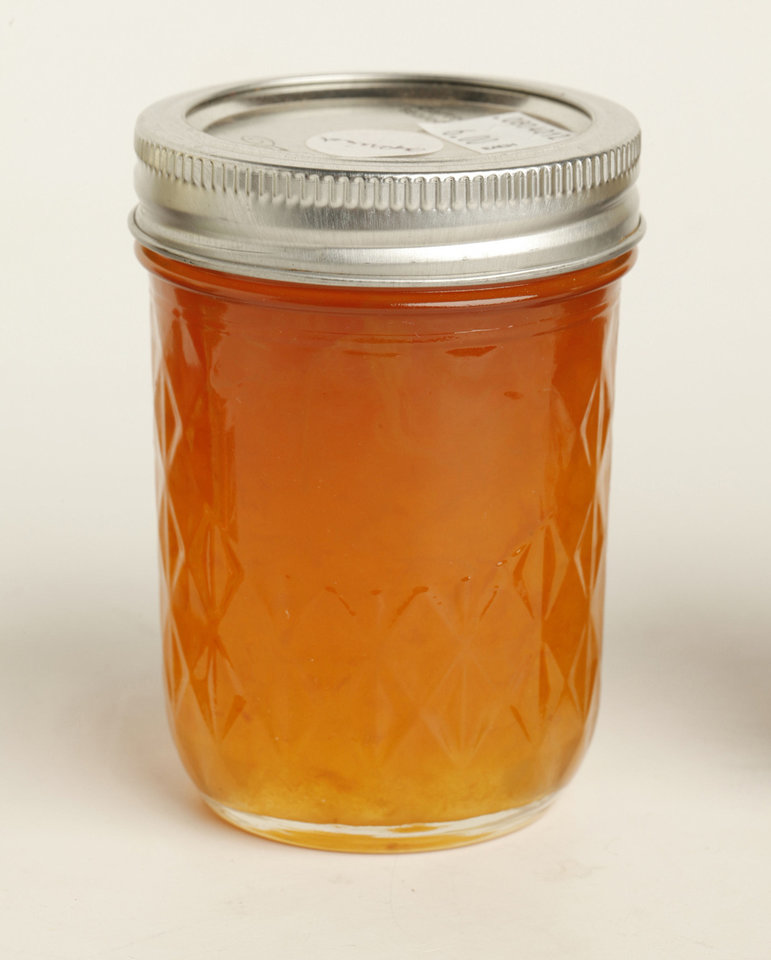 Apricot jelly.   Photo by Doug Hoke, The Oklahoman. <strong>DOUG HOKE - THE OKLAHOMAN</strong>