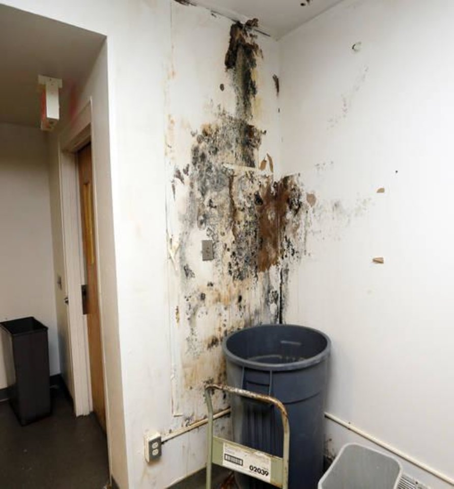 Photo -  Mold made some offices and the kitchen unusable last year at the Oklahoma County jail. [Photo by Nate Billings, The Oklahoman]