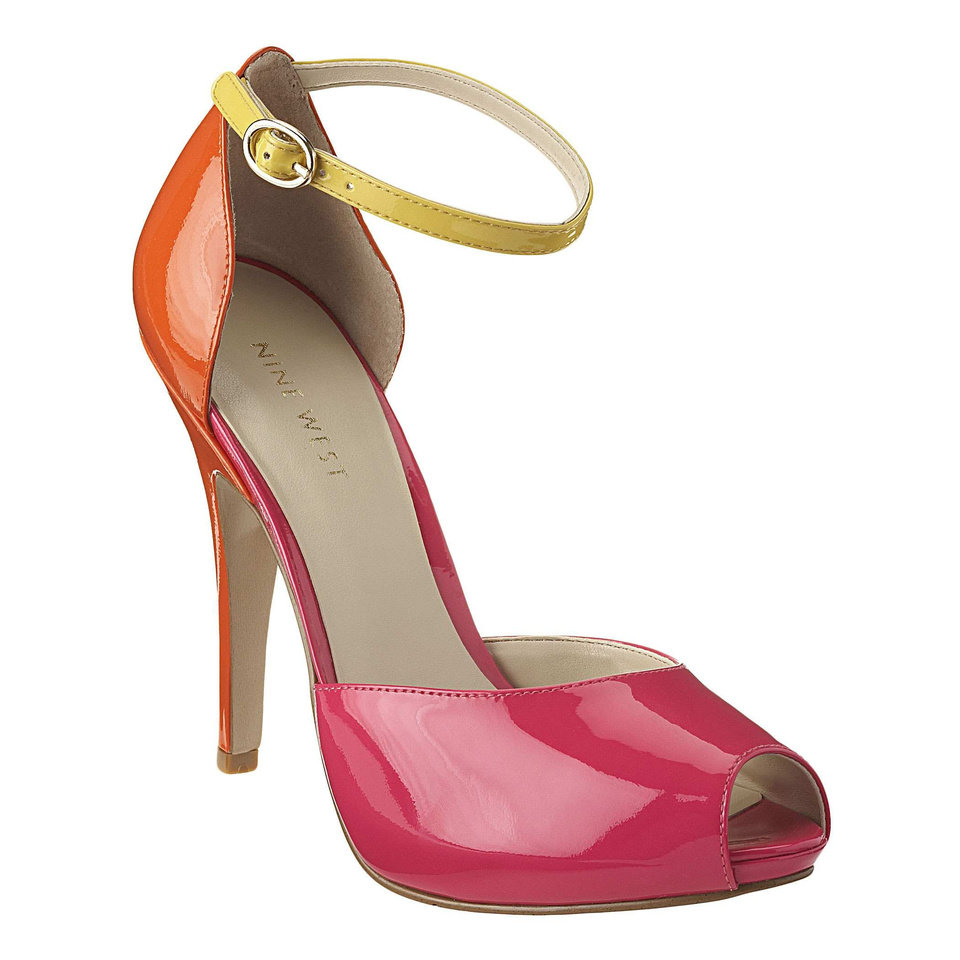 For a similar pair of ankle-strap heels, try the color-blocked Free Spirit pump from Ninewest.com for $99. (Courtesy Ninewest.com via Los Angeles Times/MCT)