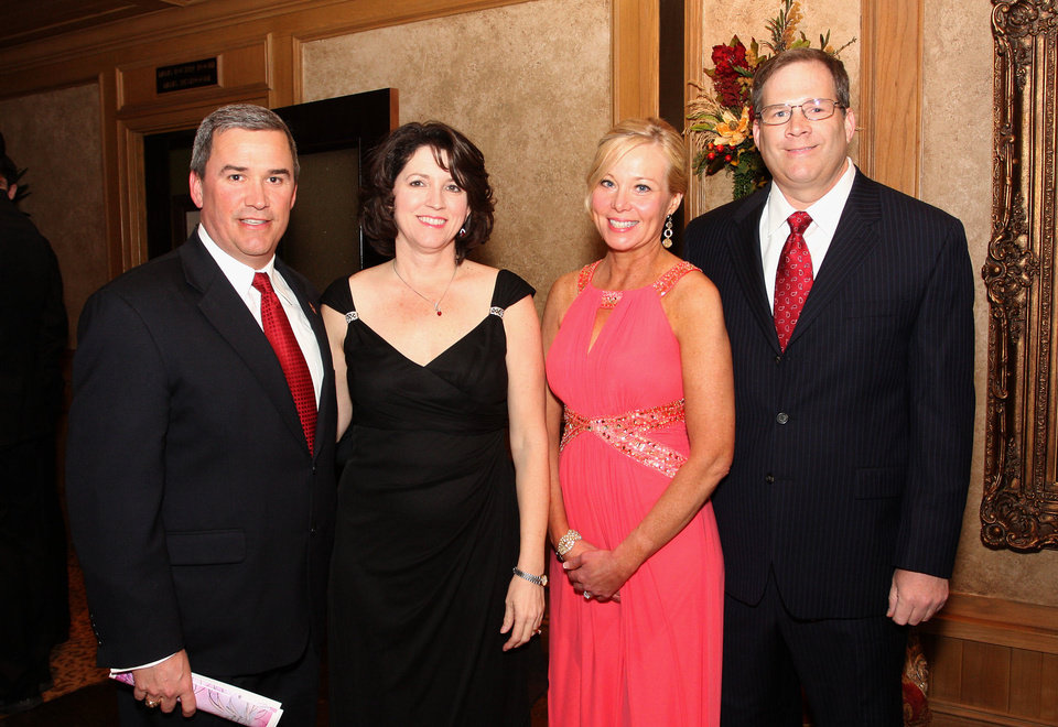Photo - Stuart and Marcia Jolly, Sandra and Greg Leaver. PHOTO BY DAVID FAYTINGER, FOR THE OKLAHOMAN