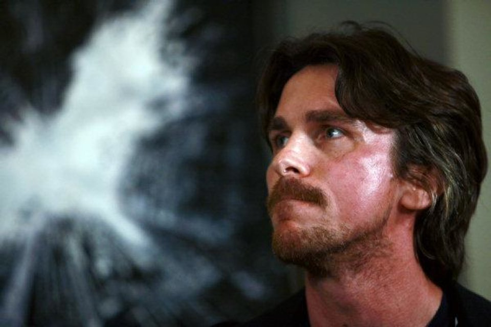"Actor Christian Bale, star of the upcoming movie ""The Dark Knight Rises"" attends an event to tout the film on Thursday July 28, 2011. (AP Photo/Jacqueline Larma) <strong></strong>"