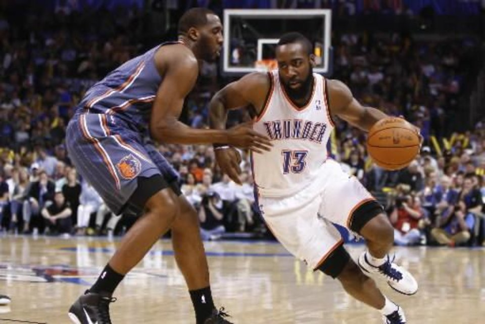 Should James Harden be a starter? That's this week's burning question about the Oklahoma City Thunder.