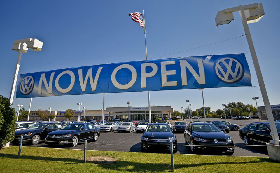 The new Bob Howard Volkswagen dealership located on Broadway Extension in Edmond. PHOTO BY CHRIS LANDSBERGER, THE OKLAHOMAN <strong>CHRIS LANDSBERGER - CHRIS LANDSBERGER</strong>