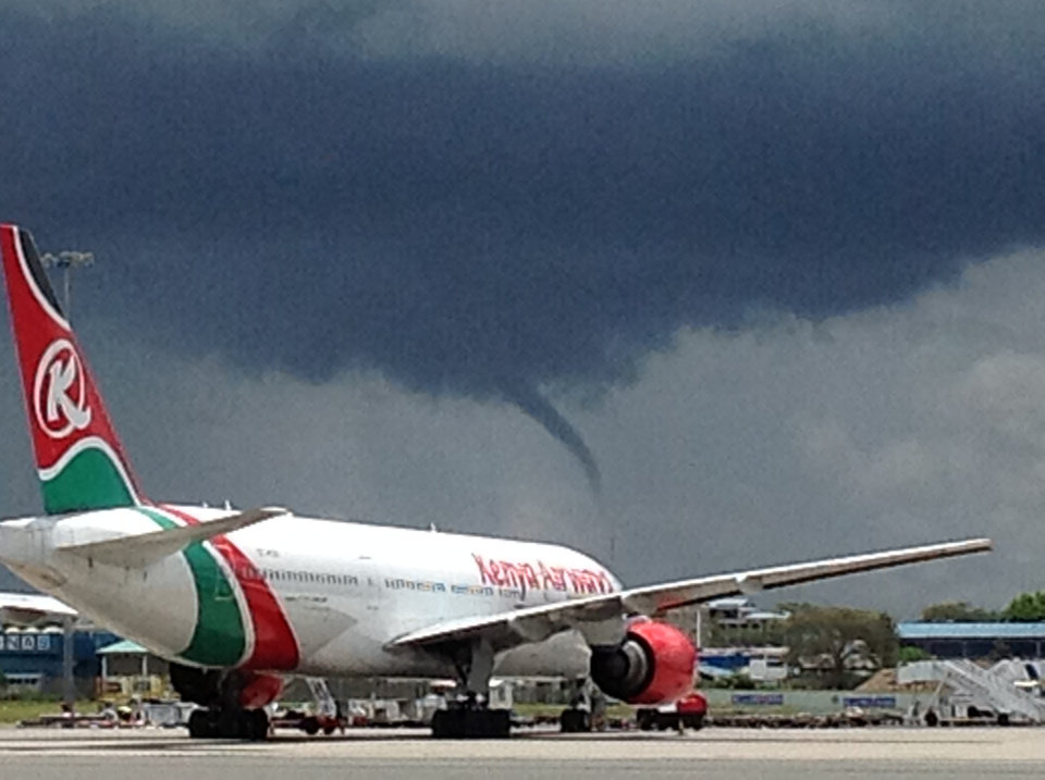 Funnel cloud in Nairobi, Kenya
