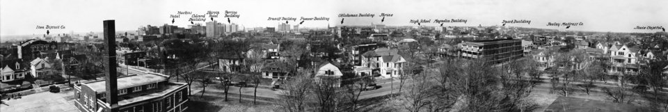 OKLAHOMA CITY / SKY LINE / OKLAHOMA:  Taken after 1927, before 1932.  Photo undated and unpublished.
