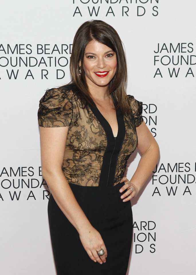 Photo -   Gail Simmons, of Top Chef, arrives for the James Beard Foundation Awards, Monday, May 7, 2012, in New York. (AP Photo/Jason DeCrow)