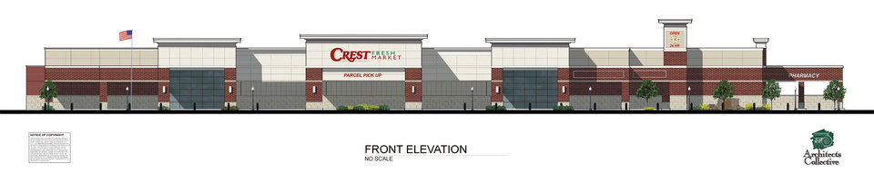 Photo - Artist's rendering of the new Crest Foods coming to Norman. DRAWING PROVIDED