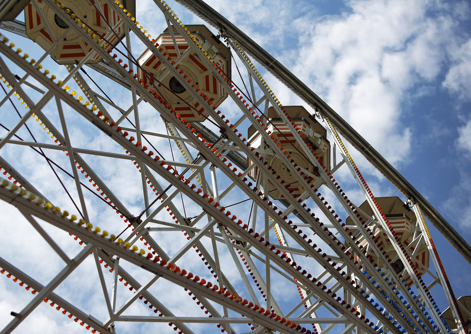 A ferris wheel at the Oklahoma State Fair, Sunday, Sept. 23, 2012.  Photo by Garett Fisbeck, The Oklahoman